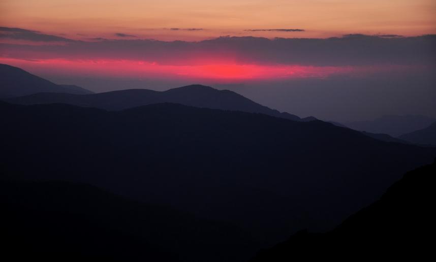 Залез от връх Юмрука, над х. Ехо
