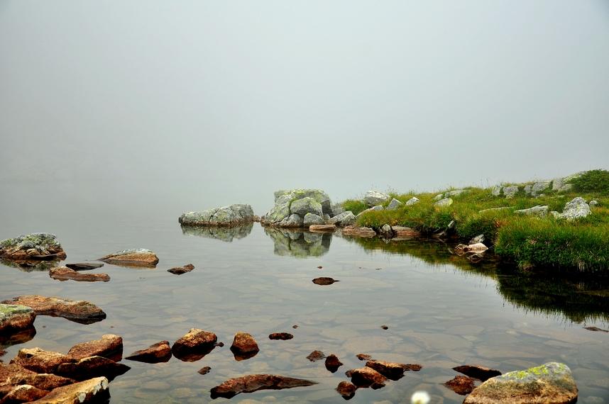 елениното езеро в мъгла