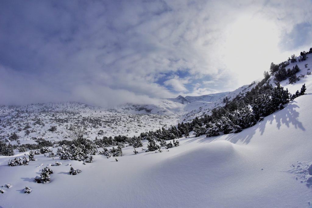седемте рилски езера, в сняг