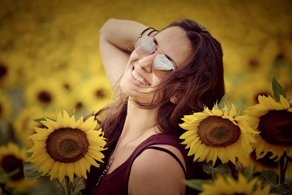 слънчогледов портрет