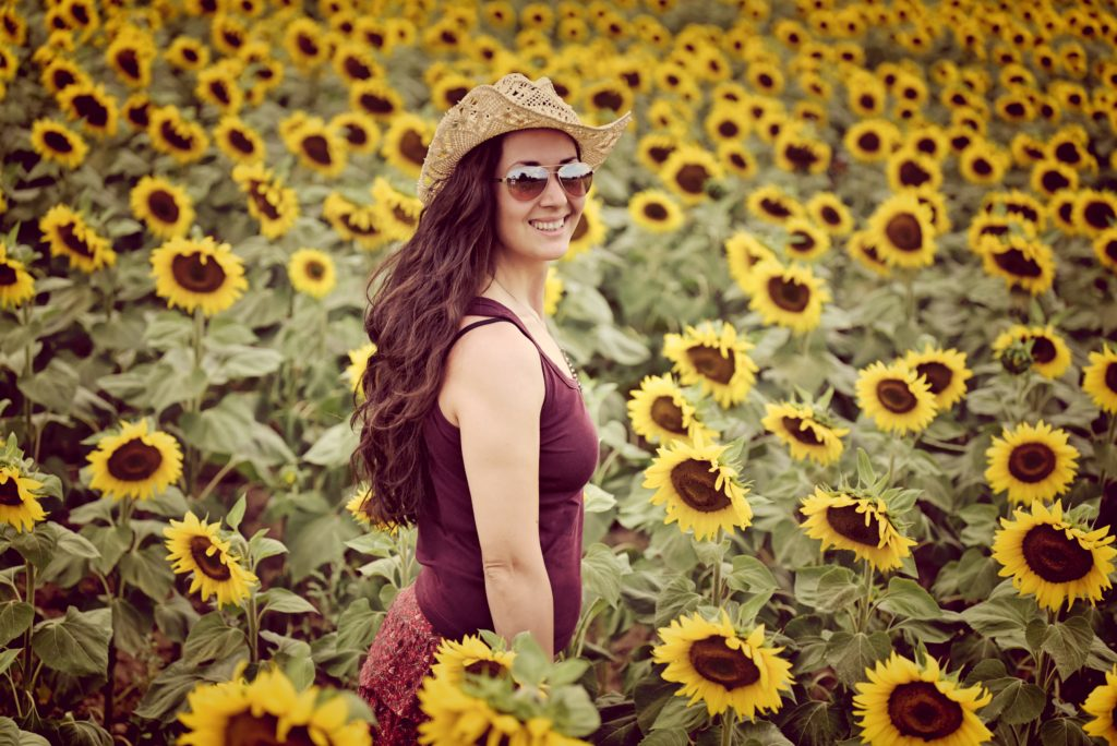 портретна фотография в слънчогледи